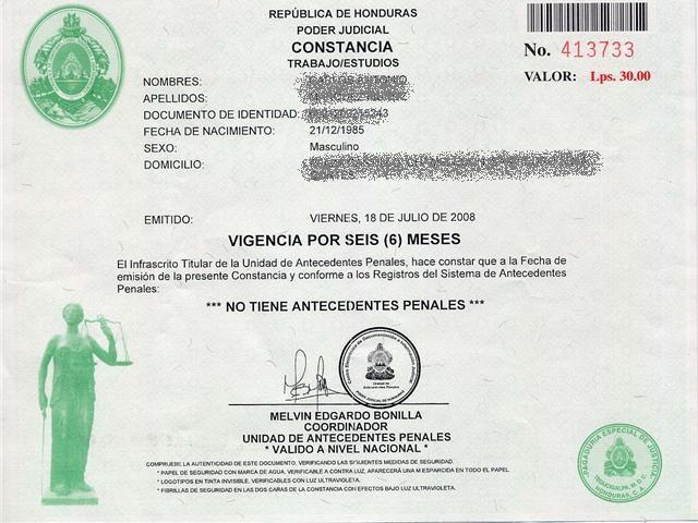 Como Obtener la Constancia de Antecedentes Penales en Honduras ...
