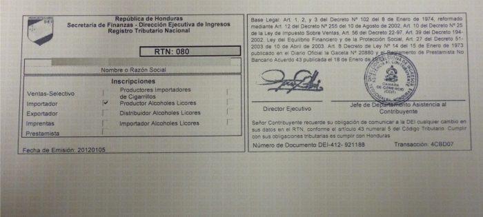 Como Sacar el RTN en Honduras? - Tramites HN