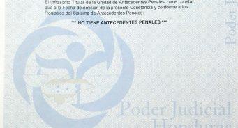 Obtener la Constancia de Antecedentes Penales en Honduras para uso en el extranjero