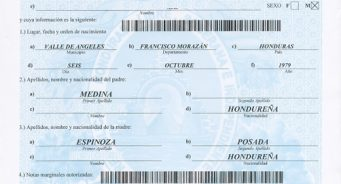 Obtener Certificación de Acta (Partida) de Nacimiento en Honduras